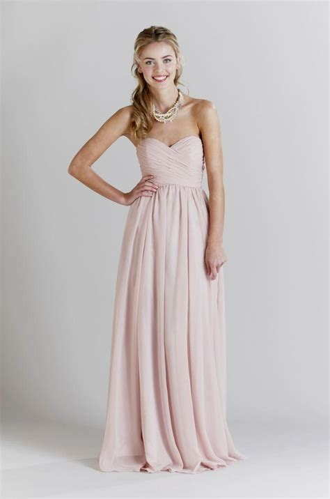 light pink bridesmaid dresses light pink strapless chiffon bridesmaid dresses