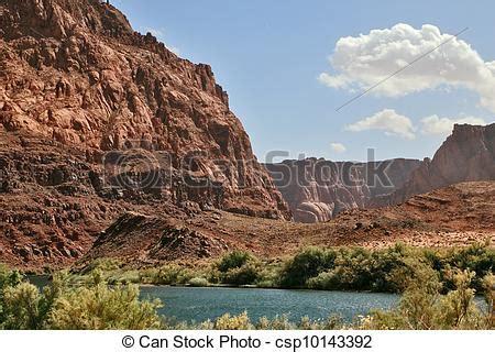 immagini banche banche ripido fiume magnifico colorado fiume