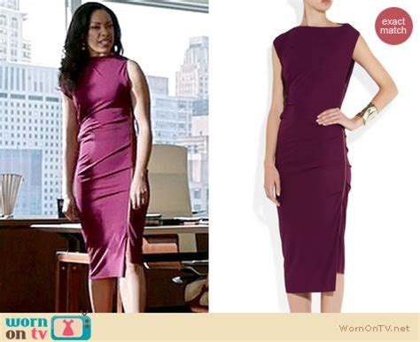 Torres Suits Wardrobe by Wornontv S Magenta Purple Side Zip Dress On Suits