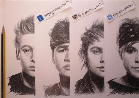 5 Second Sketches by Filipa Santos On Quot My Drawing Of 5sos From The