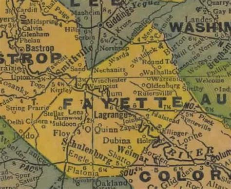 fayette county texas map fayette county texas