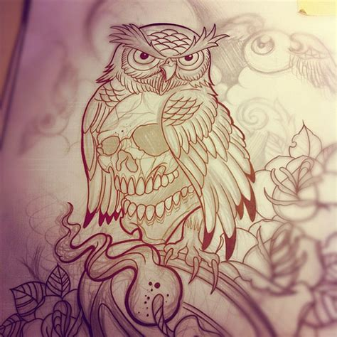 cool tattoo sketches and drawings lines owl lantern rose tattoo willem xsm flickr