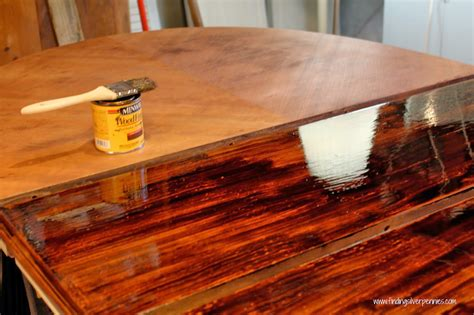 how to stain a dining room table staining furniture 101 finding silver pennies
