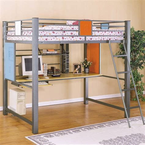 Kid Loft Bed With Desk Bedroom Graceful Colored Child Bunk Bed Decorating Ideas Fancy Multipurpose Loft