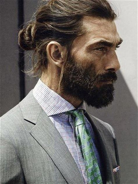 mens tie back hairstyles man bun beard hairstyles guide pictures advice how to