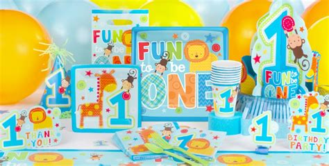 birthday themes at party city wild at one girl s 1st birthday party supplies party