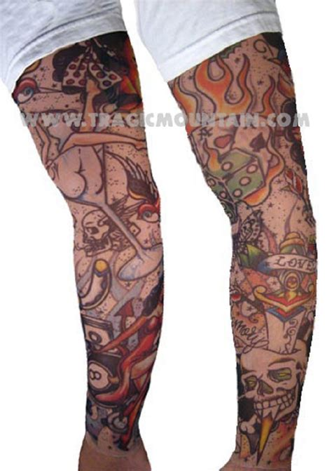 temporary tattoo sleeves tinsley temporary mesh sleeve rockabilly