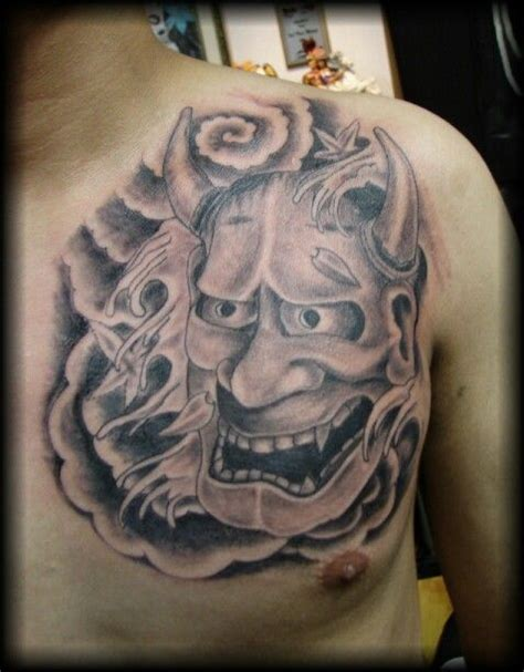 japanese kabuki mask tattoo pictures to pin on pinterest