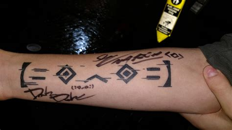 porter robinson tattoo got my porter robinson signed planning on getting