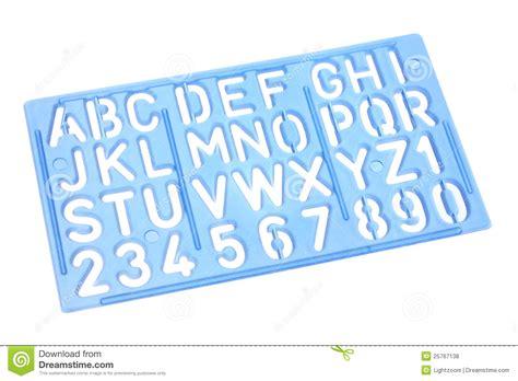 plastic letter templates alphabet stencil royalty free stock photos image 25767138
