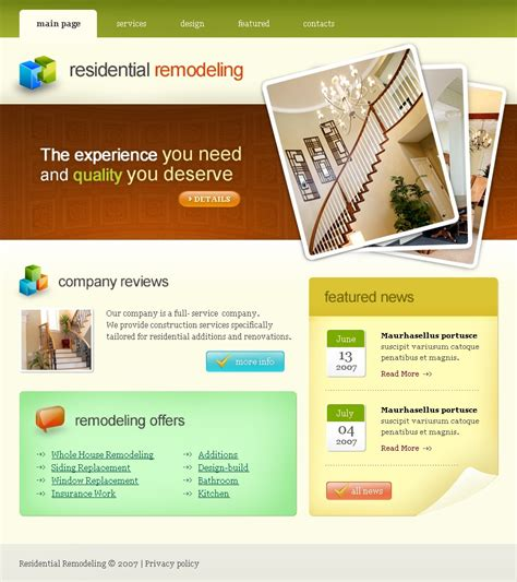 home remodeling website template 17279