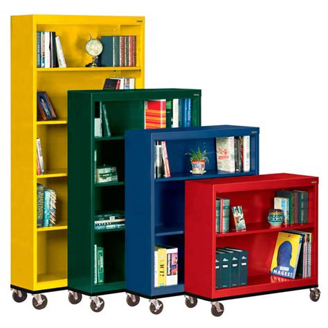 sandusky mobile bookcase w 5 shelves 78 quot h