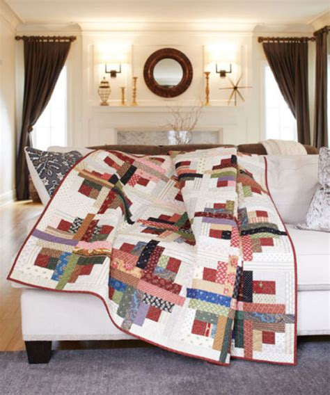 10 inch layer cake quilt patterns how to make an easy and shadows log cabin quilt