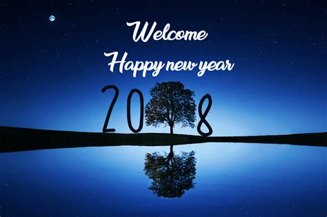 welcome the new year merry and happy new year 2018 greeting card images