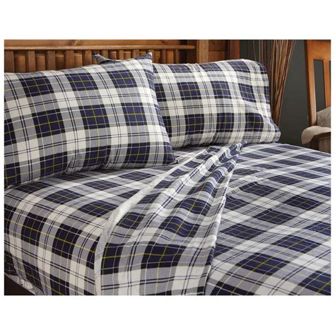 flannel bed sheets castlecreek printed 5 oz flannel sheet set 227955