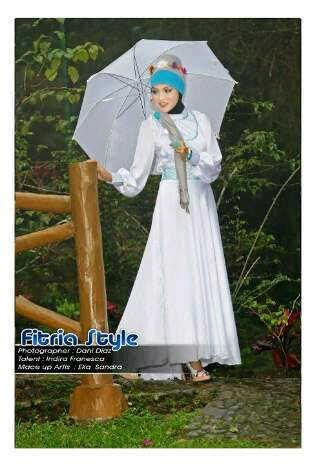 Baju Gamis Lovely baju gamis lovely white by fitria style limited fashion