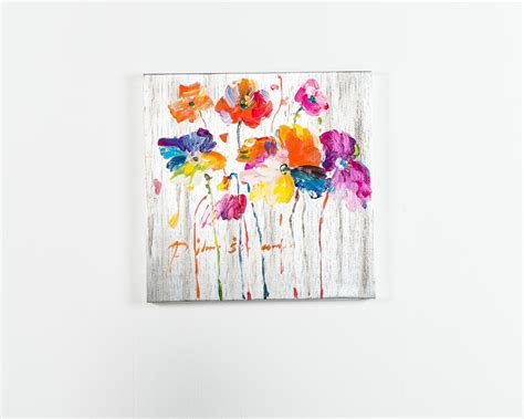 quadro fiori moderno dipinti ad olio