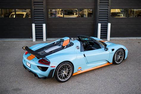 Price Of A Porsche 918 Spyder by Porsche 918 With Gulf Livery For Sale Exotic Car List