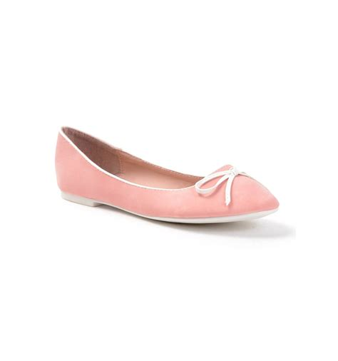 pink faux leather s court shoe with bow