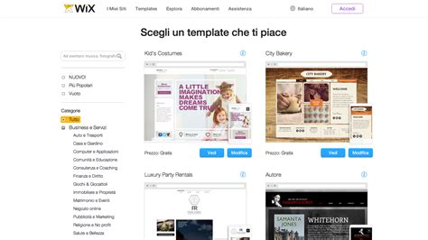 wix html templates web templates gratis 7 siti dove trovarli