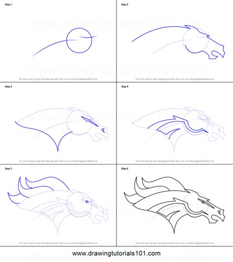 how to draw an i how to draw denver broncos logo printable step by step