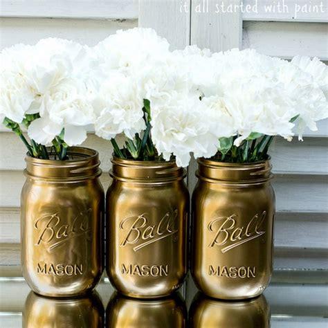 spray painting jars make metallic jars with spray paint