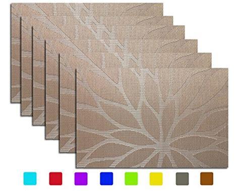Tennove Placemats Set Of 6 Tennove Woven Vinyl Table Mats Buy Dining Table Mats