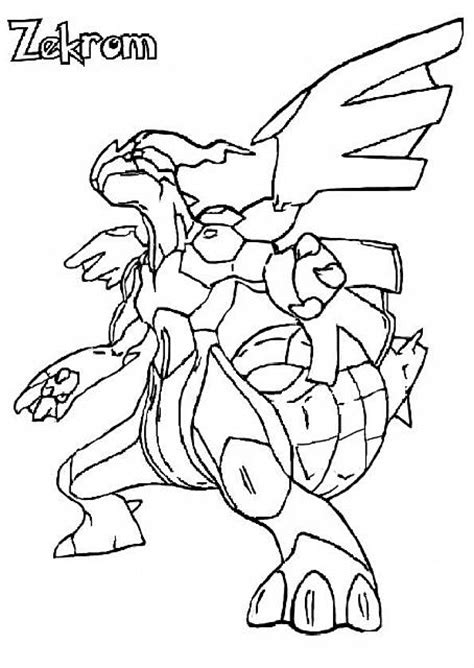 pokemon coloring pages black and white zekrom pokemon zekrom coloring coloring pages