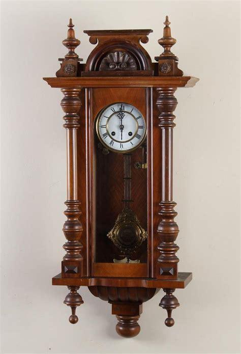 Half Glass Clock german walnut veneer wall clock with half columns glass f