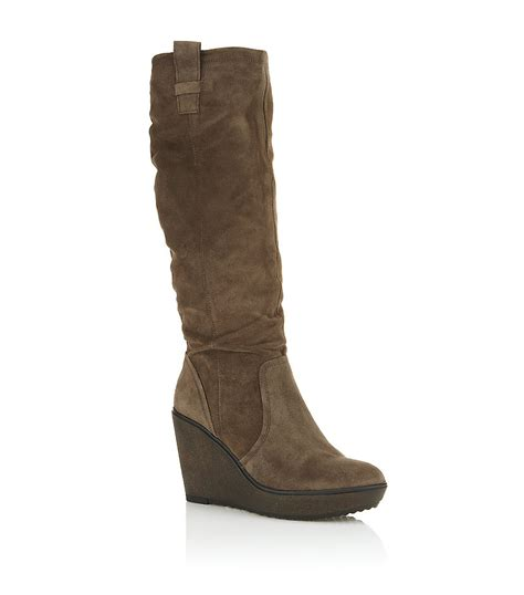 carvela boots for carvela kurt geiger waffle suede boot in brown lyst