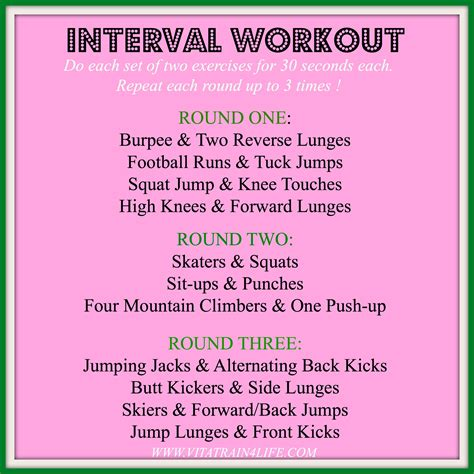hiit it interval workout no equipment needed
