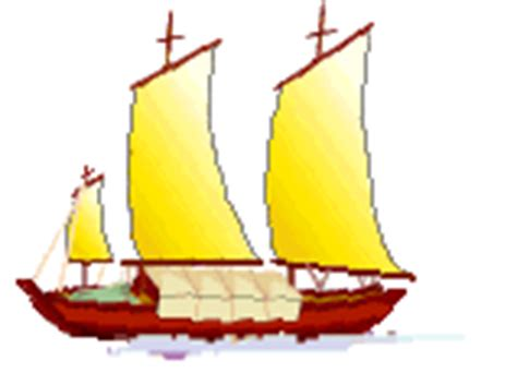 barco navegando animado medios de transporte tipos