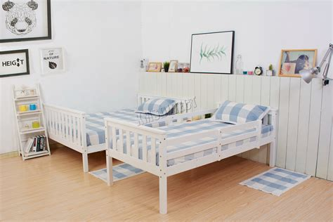 white wooden detachable bunk beds westwood new detachable bunk beds wood frame children s