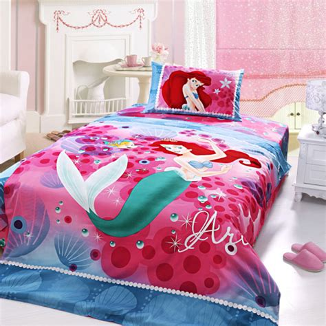 little mermaid queen size comforter ariel princess bedding set twin size ebeddingsets