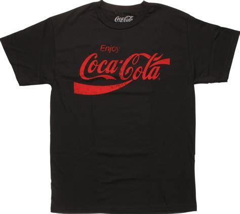 Coca Cola T Shirt coca cola distressed logo black t shirt
