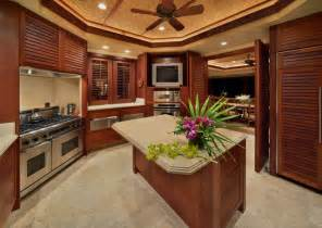 Tropical Kitchen Cabinets Bali House Tropical Kitchen Hawaii By Rick Ryniak