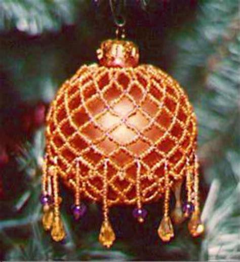 victorian beaded christmas tree ornament
