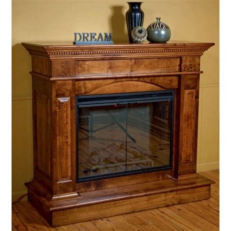 amish deluxe hearth mantle fireplace