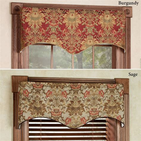 valance window curtains como tapestry fabric scalloped window valance