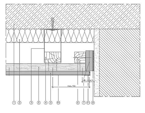 schattenfuge trockenbau vertikal gleitender deckenanschluss mit hinterlegtem
