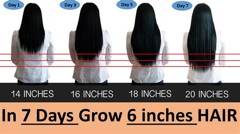 how to grow 2 4 inches of hair in one week grow 6 inches strong smooth hair in 7 days fast youtube