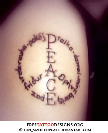 peace and love tattoo designs newest strong peace symbol designs