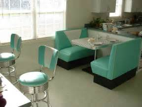 Diner Style Kitchen Table Kitchen Booth Teal White Boomerang Table Bar Stools