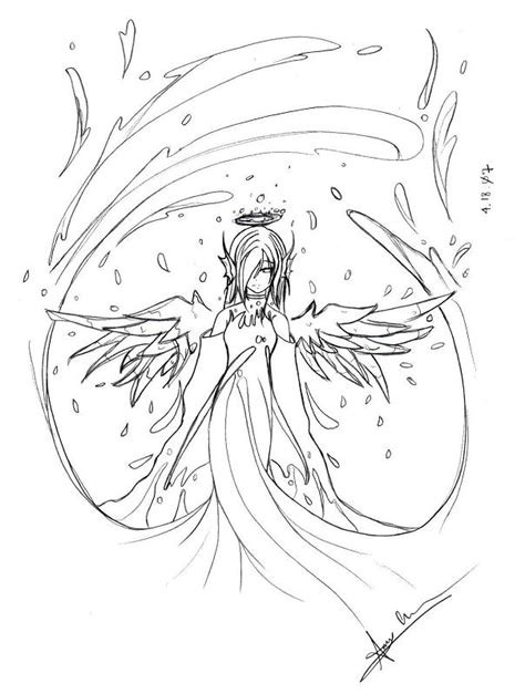 angel outline coloring page angel outline related keywords angel outline long tail