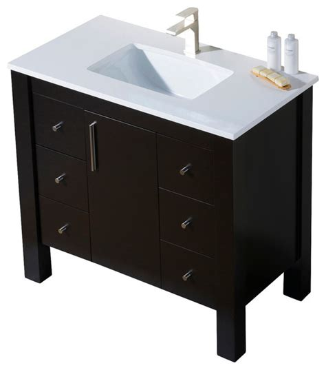 quartz bathroom vanity parsons 37 quartz top vanity bathroom vanities and sink