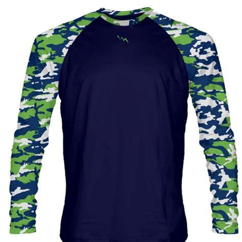 cama shirt neon green navy blue long sleeve camouflage shirts youth