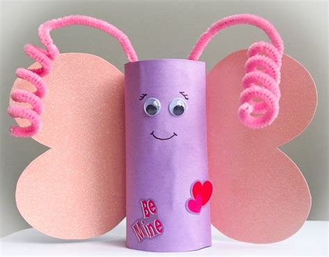 Butterfly Toilet Paper Roll Craft - crafts actvities and worksheets for preschool toddler and