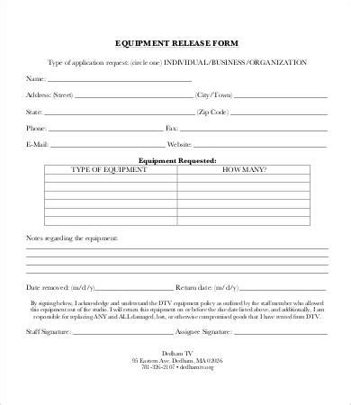 document release form template release form template 10 free sle exle format