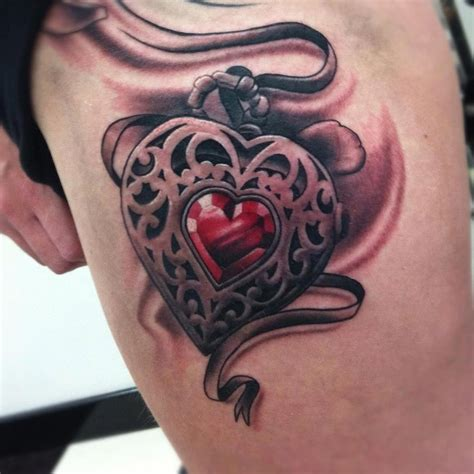 tattoo hearts locket image