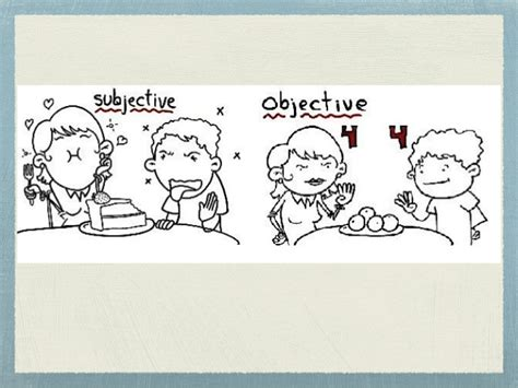 subjective and objective statements objective vs subjective writing